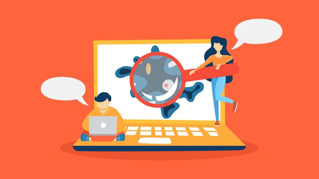 virus en el ordenador contra la ciberseguridad